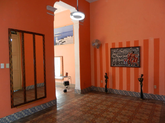 Second room for dance lessons towards main dance room