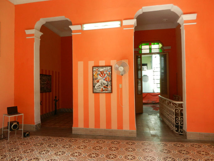 Main room for dance lessons towards second dance room