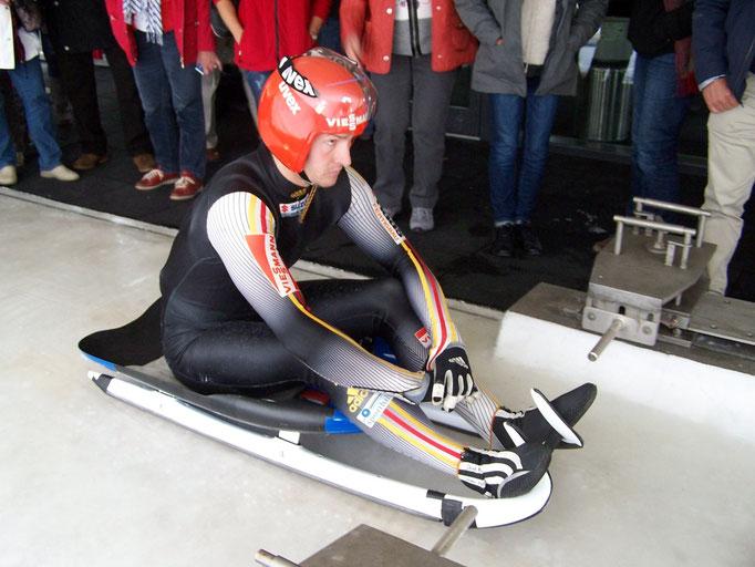 Training auf der Bobbahn in Oberhof