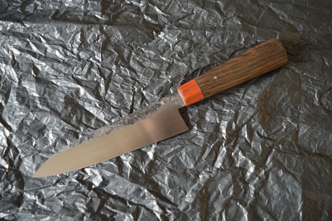 #389, gyuto shirogami, morta & padouk, 190mm