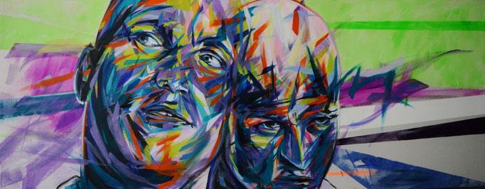 Woody Harrelson, Acrylic on canvas 160 x 65 cm