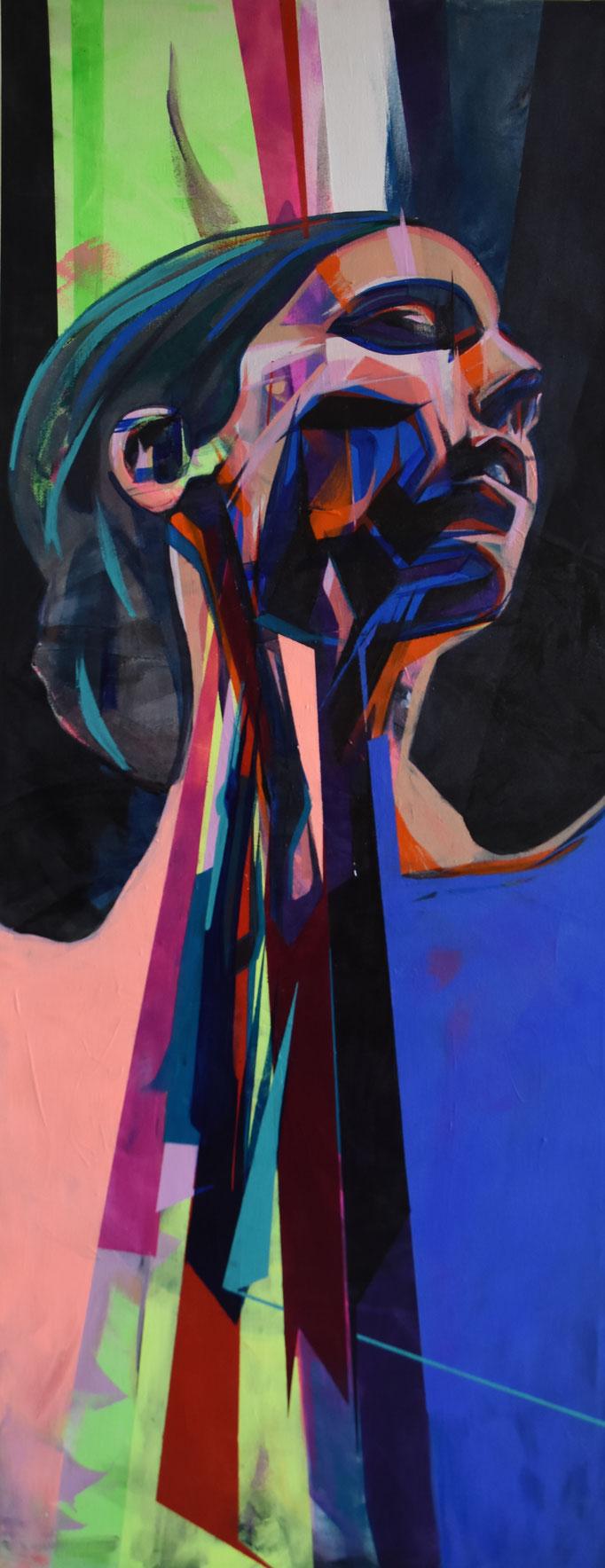 REFLEX II, 2017, Acrylic on canvas, 64cm x 163cm
