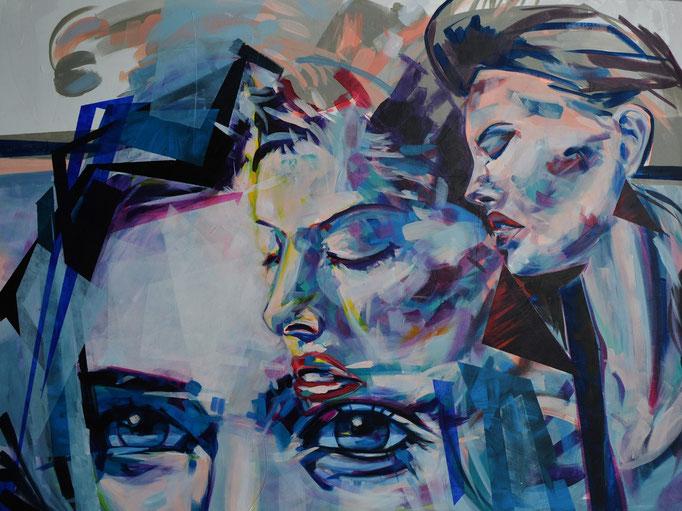 """Magazine Muse"" Acrylic on canvas 90 x 120 cm"