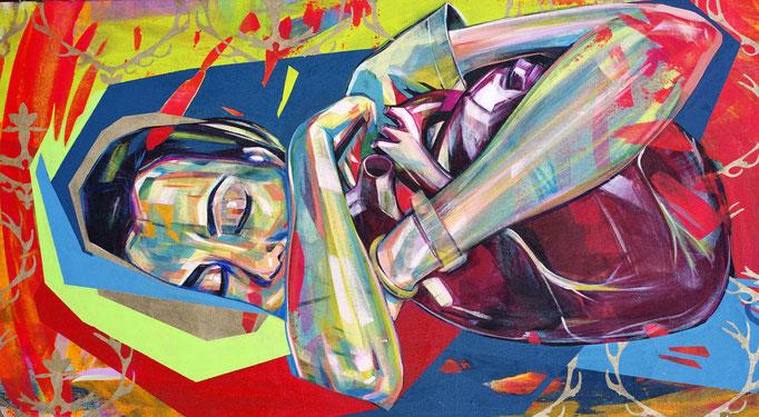 LOVER 130 x 60 cm Acrylic on Canvas