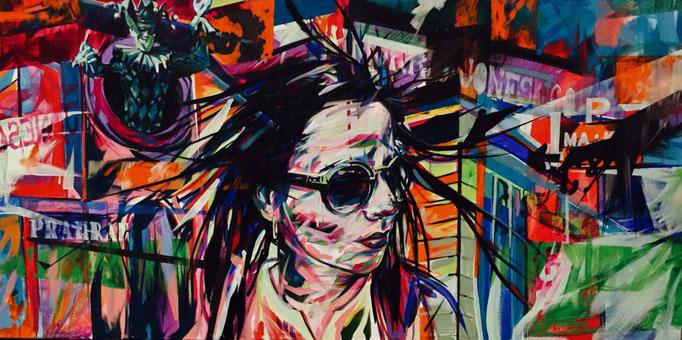 """Chapel precint"" 2016 Acrylic on canvas 180 x 80 cm"