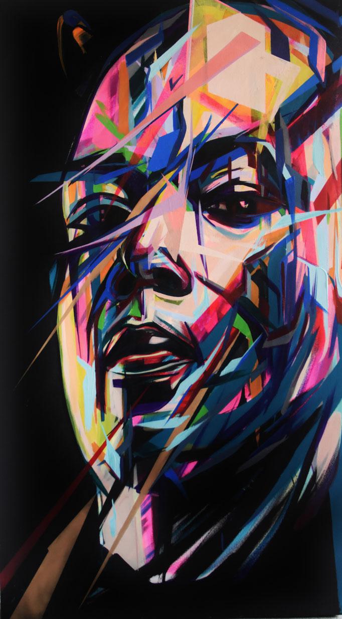 FAUSTO, 2017, Acrylic on canvas, 84cm x 150cm