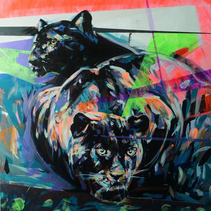 """Still Life II"" 2015 Acrylic on canvas 90 x 90 cm"