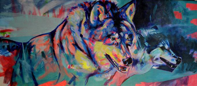 """""""Eyal"""" Acrylic on canvas 70 x 160 cm"""