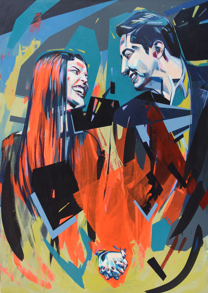 Nobles Lovers, March 2018, Acrylic on canvas 100 x 150 cm
