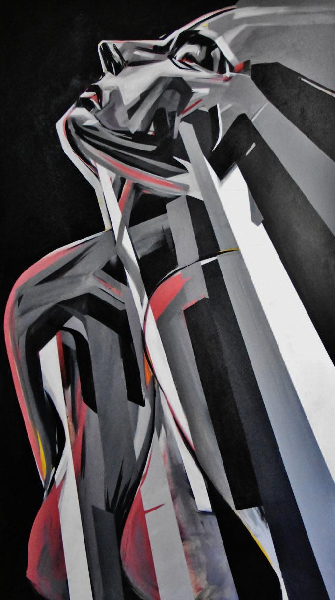 Santiago1, August 2017, Acrylic on canvas, 140cm x 80cm