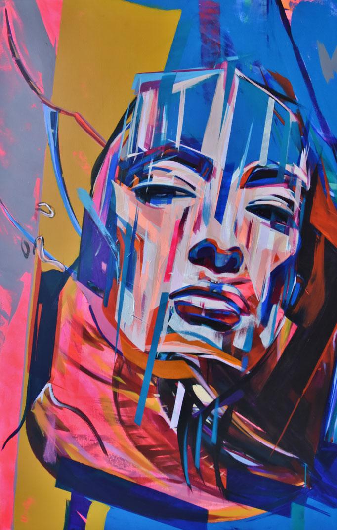 THE DREAMING II, 2017, Acrylic on canvas, 97cm x 154cm