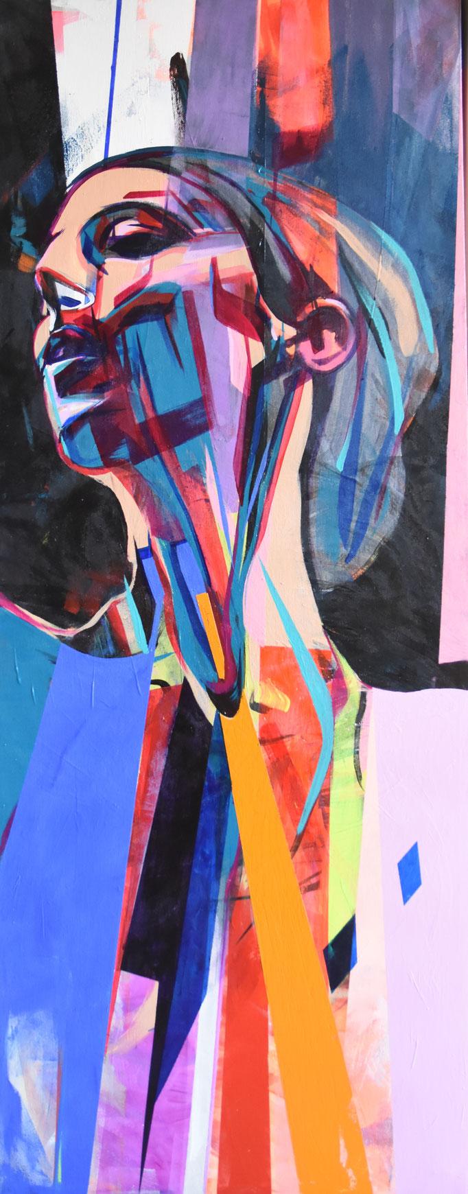 REFLEX, 2017, Acrylic on canvas, 64cm x 164cm