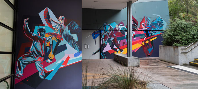 IMMIGRATION 2019 Mural at Rowville Community Centre