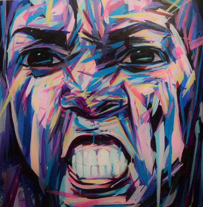 Serena Williams, Acrylic on canvas 90 x 90 cm