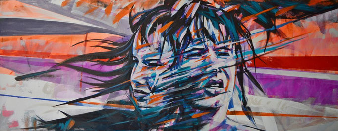 Juliette Lewis, Acrylic on canvas 160 x 65 cm
