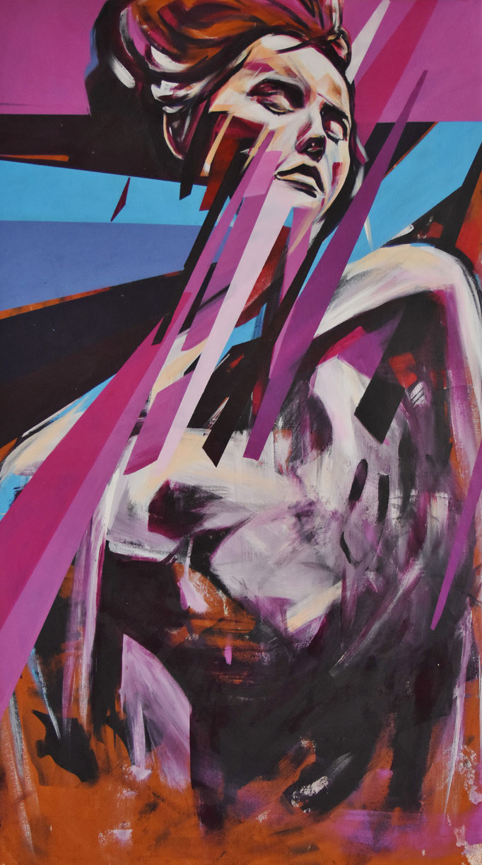 Organic, Sept 2017, Acrylic on canvas, 80cm x 140cm