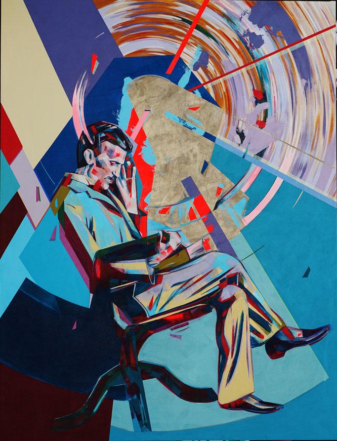 Nikola Tesla 2021 145 x 190 cm Acrylic on Canvas