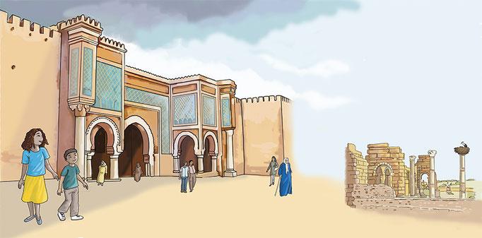 illustration numérique découverte de Meknès