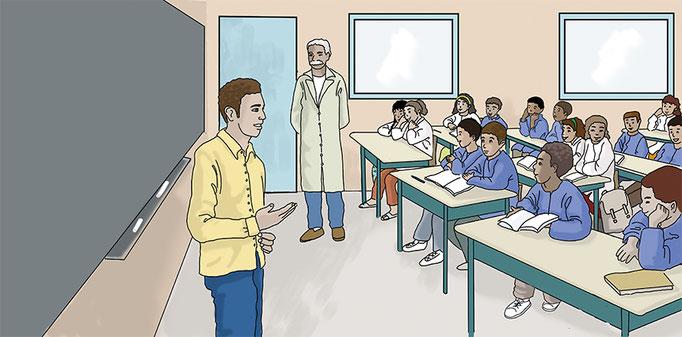 illustration numérique apprentissage des droits de l'enfant
