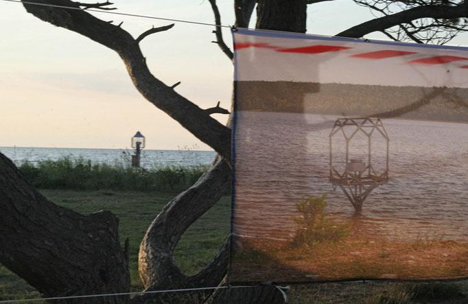 """Banner """"PEGEL-CHUPA"""" auf der Lotseninsel/ Schleimünde 2013"""