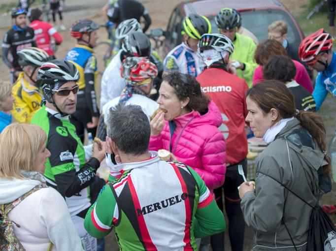 Encuentro con ciclistas en el Puerto de Honduras