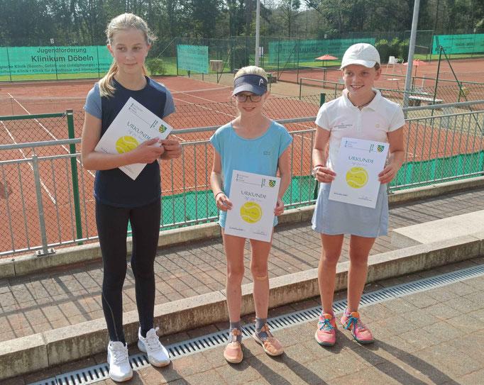 Teilnehmer der Altersklasse U12w: Clara Doberenz, Freya Thiele und Leni Hausding (von links).