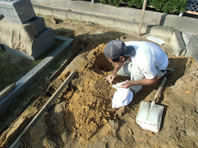 墓石解体2