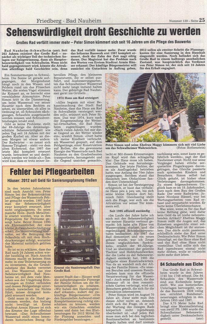 Wetterauer Zeitung, 17. Juni 2011
