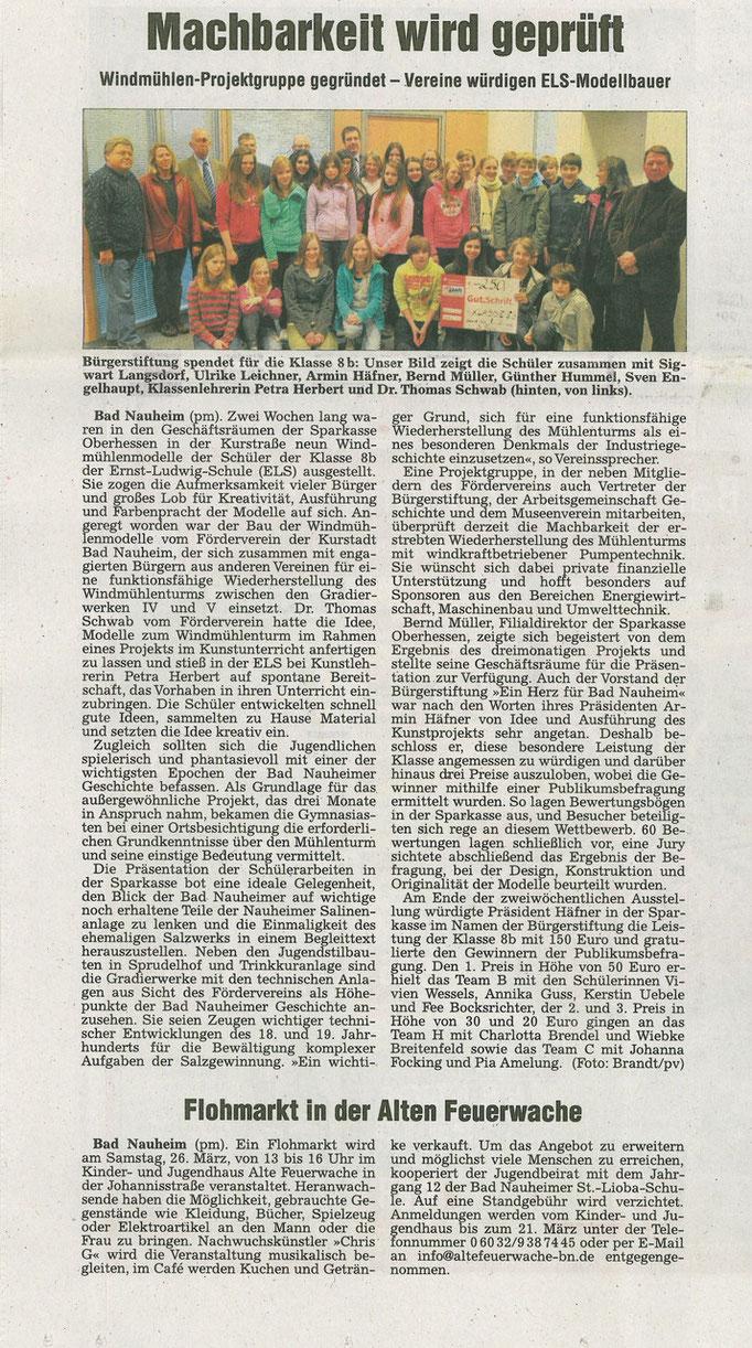 Wetterauer Zeitung, 10. März 2011