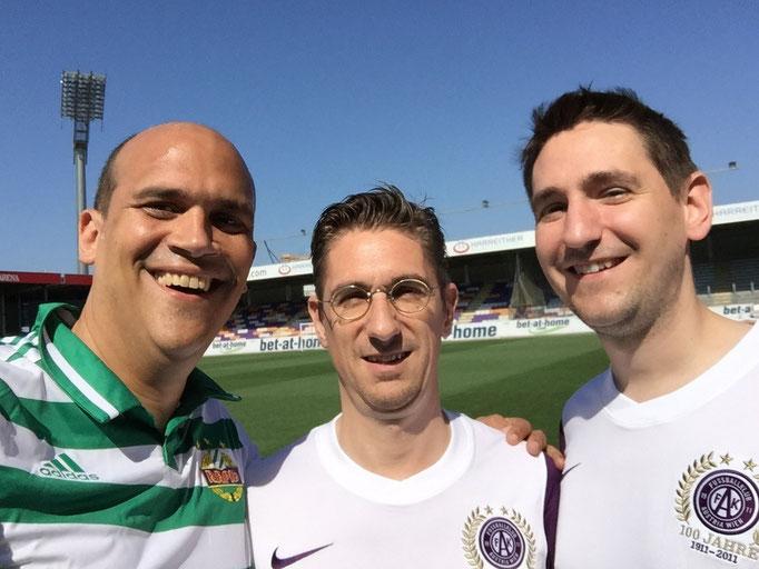Martin Kaindel, Christoph Soucek, Simon Soucek, Derby Rapid Wien gegen Austria Wien