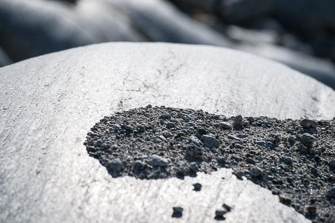 Felsen Rohnegletscher nach über 13 000 Jahren wieder an der Freiheit