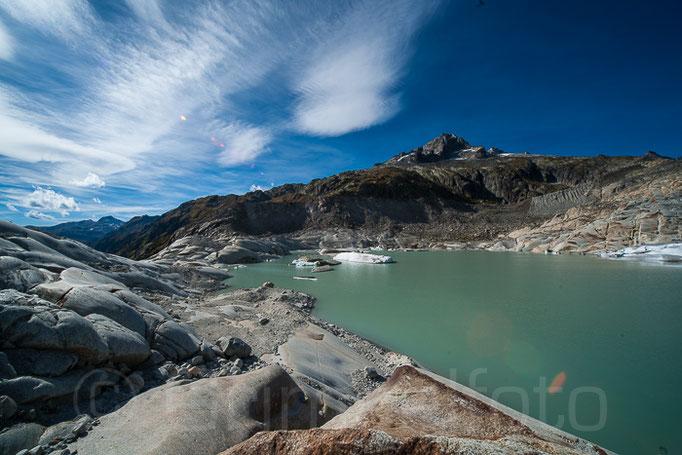 Rohnegletscher neuer Gletscherssee
