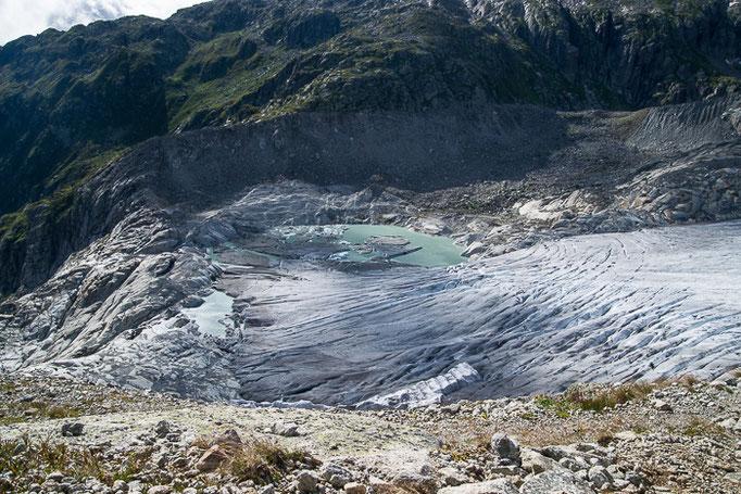 Rohnegletscher neuer Gletschersee