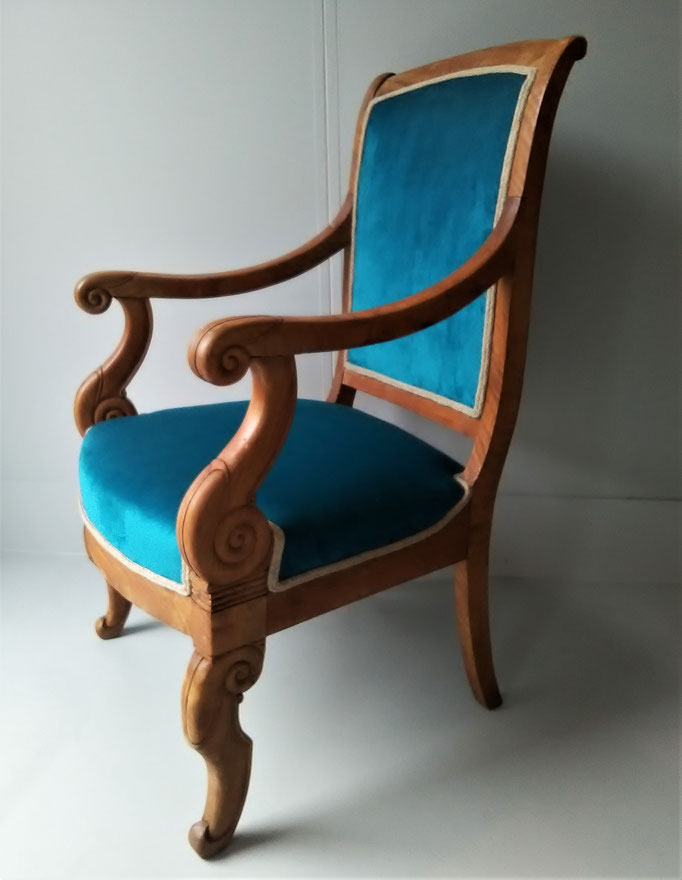 restauration d'un fauteuil Empire