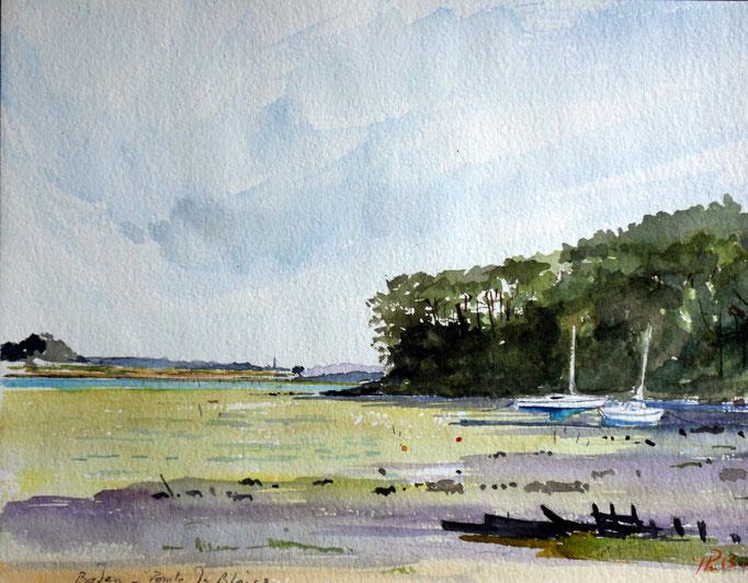 Morbihan. Pointe du Blaire en Baden