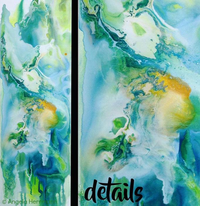 """green temptation""  Größe 40 x 120 x 3,8 cm"