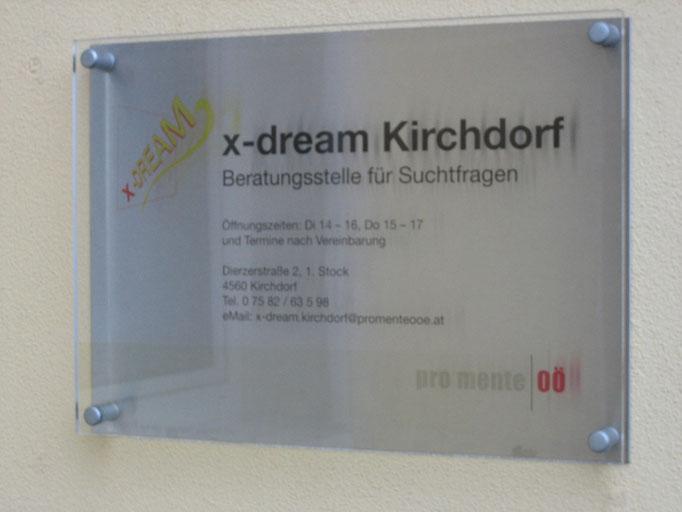 Schild x-dream Kirchdorf