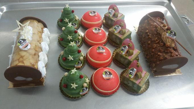 Nos desserts de Noël.