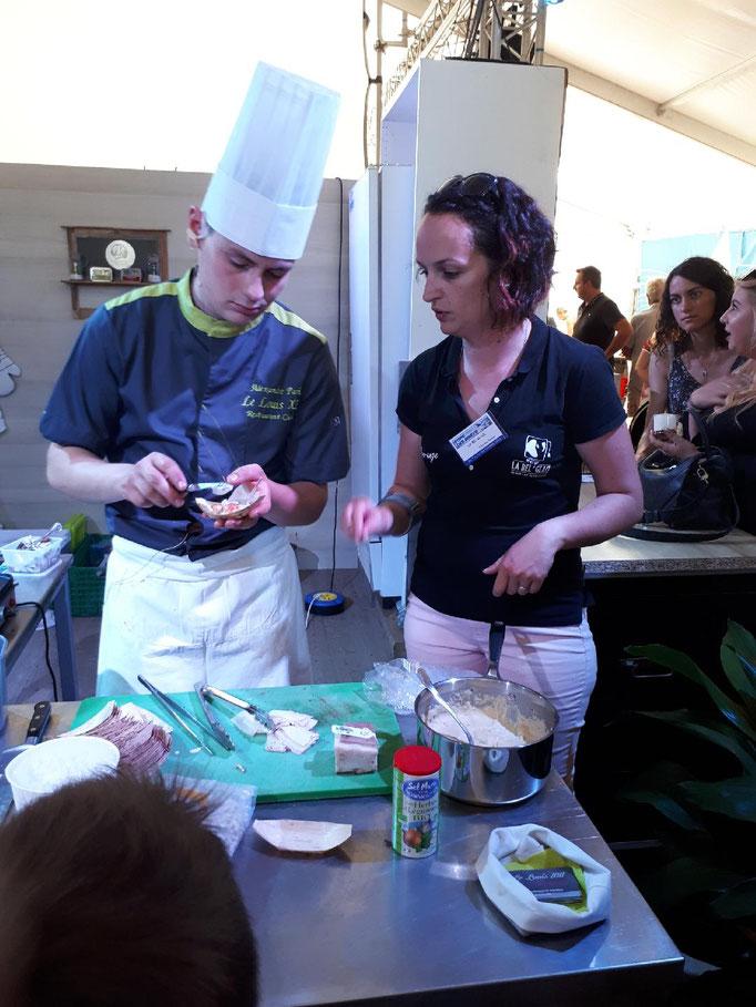 Animation sur la Foire des Minées avec le restaurant le Louis XIII de Challans, pour une dégustation de notre glace au Pastis.