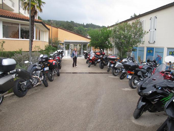 Unterkunft in Rabac mit Biker aus Ungarn...