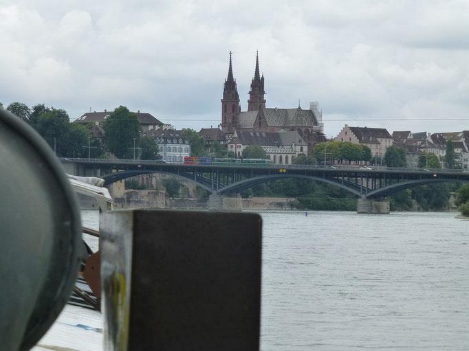 Basel, Wettsteinbrücke und Münster (Rhein) 05.08.2016 12:07 © p-m