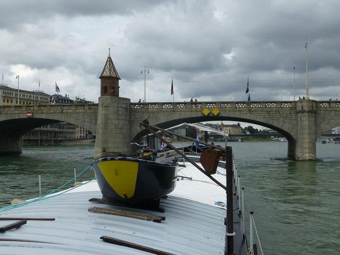 Basel, Mittlere Brücke mit Käppelijoch (Rhein) 05.08.2016 12:11 © p-m