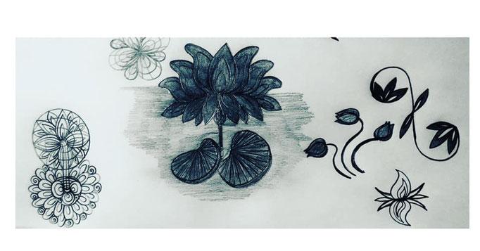 #doodles #lotus #chakras #reflections #budding #letspaintpeace #bhairavalaya