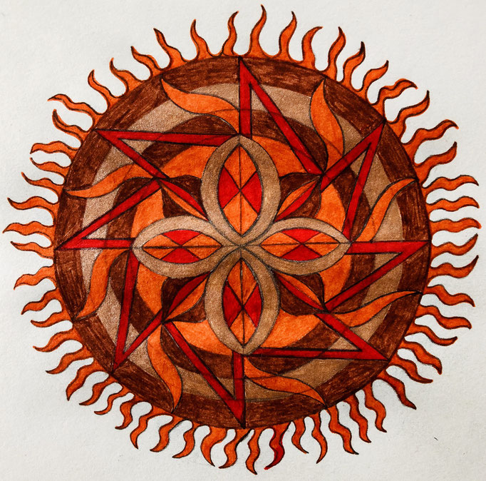 Fiery, Grounding Energy Mandala