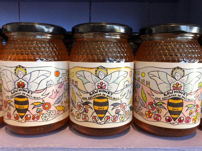 Honey label for Organic Farm, Ibiza