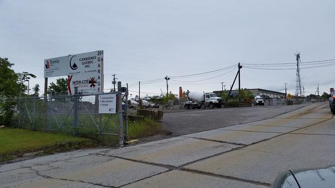 Entrée de la carrière Québec Inc. (Carrière Inter-Cité) à Charlesbourg, Qc.