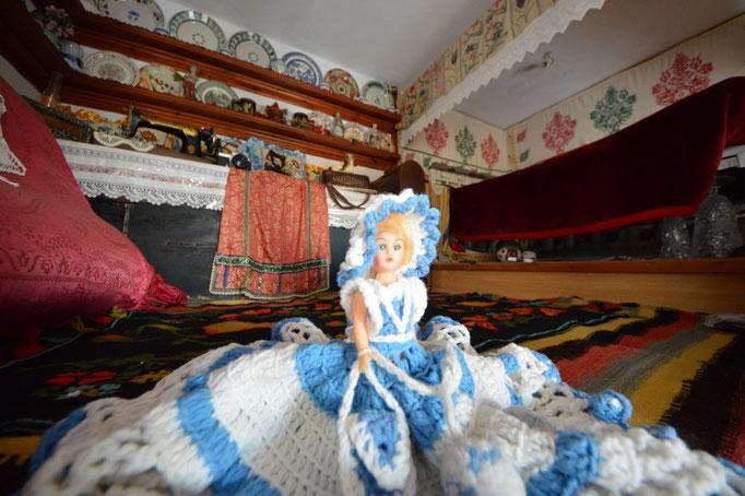 La reception è una vera casa tradizionale di Karpathos