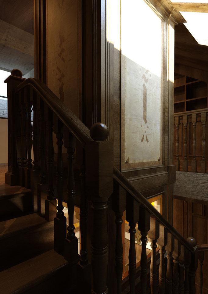 Между этажами. Вид. 2. ОФОРМЛЕНИЕ ЛИФТОВОЙ ШАХТЫ.
