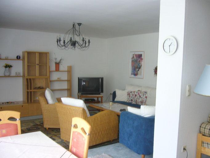 Wohnraum mit SAT-TV und Zusatzbett f. 4. Person