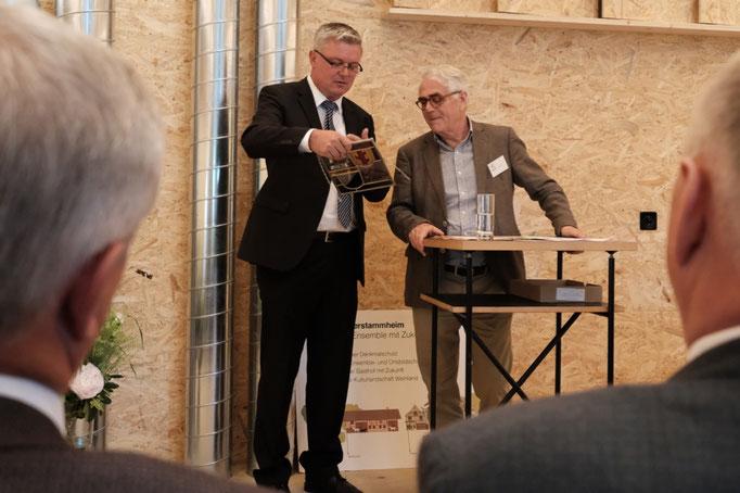 KR Martin Farner, Gemeindepräsident Oberstammheim und Fritz Wehrli